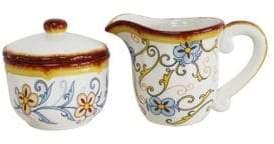 Euro Ceramica Duomo Ceramica Creamer and Sugar Bowl- Set of 2