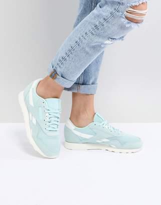 Reebok Classic Nylon Sneakers In Mint