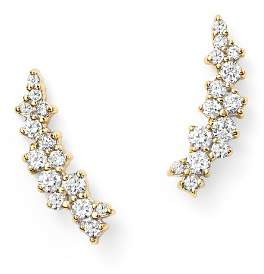 Bloomingdale's Small Diamond Scatter Ear Climbers in 14K Yellow Gold, .30 ct. t.w.