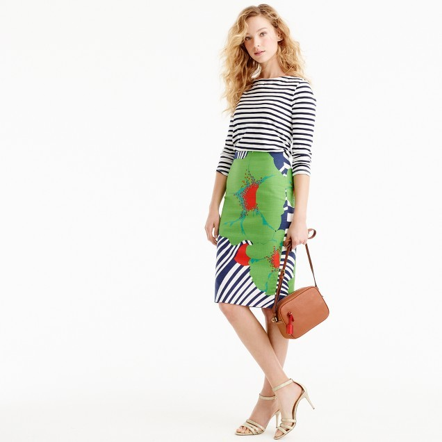 J.Crew Pencil skirt in Ratti® striped floral