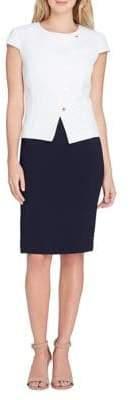 Tahari Arthur S. Levine Asymmetric Jacket and Skirt Suit
