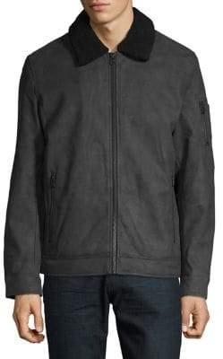 Dockers Faux Suede Long-Sleeve Jacket