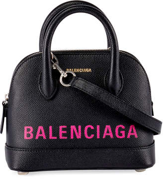 Balenciaga Ville XXS AJ Logo Leather Top-Handle Tote Bag