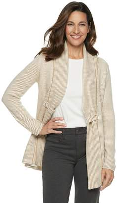 Croft & Barrow Women's Cozy Jacquard Open-Front Cardigan