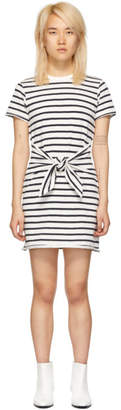 Rag & Bone White and Navy Halsey Tie Dress