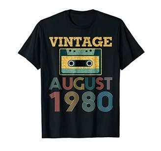 August 1980 Retro Vintage 38th Birthday Mixtape Shirt Gifts