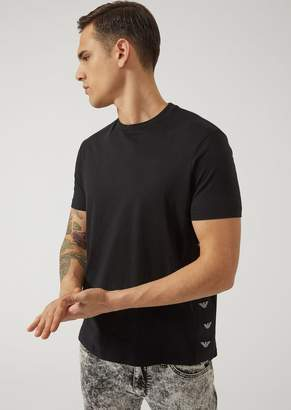 Emporio Armani Jersey T-Shirt With Side Logo Strips