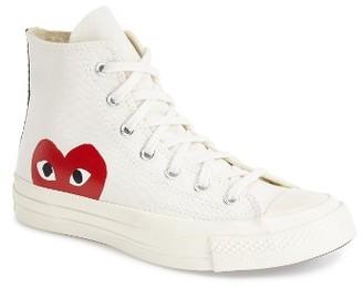 Women's Comme Des Garcons Play X Converse Chuck Taylor Hidden Heart High Top Sneaker $125 thestylecure.com