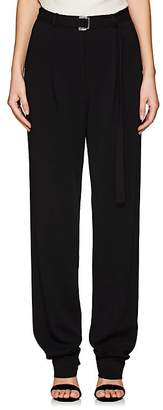 Robert Rodriguez Women's Belted Cady Pleated-Front Trousers