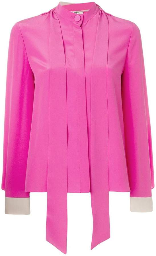 Fendi tie strap detail blouse