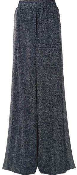 Sophie Lurex Wide-leg Pants - Navy