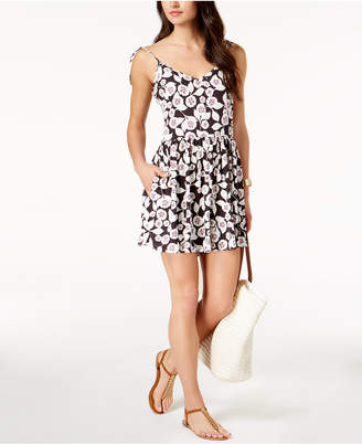 Kate Spade Aliso Beach Floral-Print Flared Romper Cover-Up Women's Swimsuit