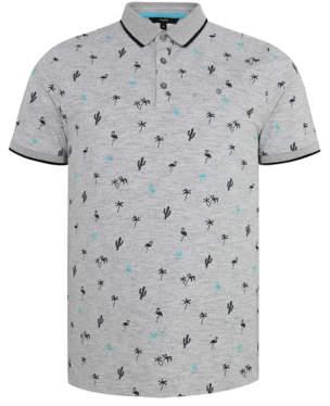 8b5ab614 George Grey Tropical Print Short Sleeve Polo Shirt