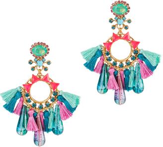 Elizabeth Cole Multi Tassel Earrings $298 thestylecure.com