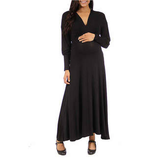 24/7 Comfort Apparel Empire Waist Dress-Plus Maternity