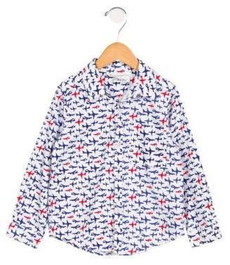 Rachel Riley Boys' Airplane Button-Up Shirt