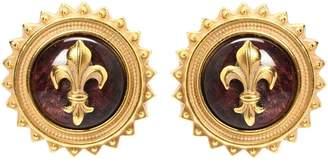 Veronica Beard Gold Iris Inraglio Clip Earrings