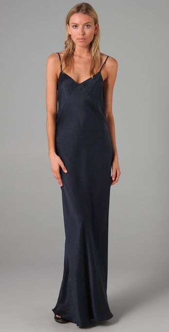 T By Alexander Wang Silk Charmeuse Long Dress