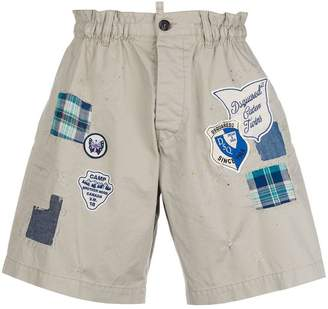 DSQUARED2 patch cargo shorts