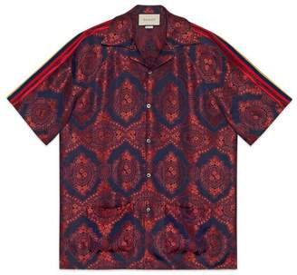 Gucci Baroque jacquard bowling shirt