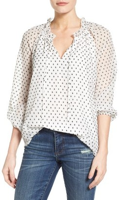 Women's Nydj Clipped Jacquard Blouse $108 thestylecure.com