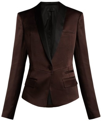 Haider Ackermann Kuiper Single Breasted Satin Blazer - Womens - Brown