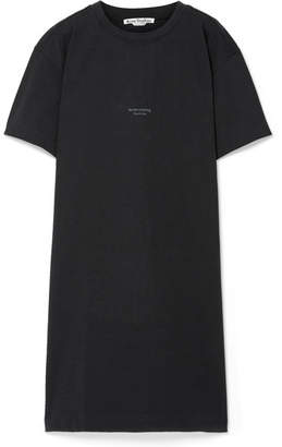 Acne Studios Jopa Printed French Cotton-terry Dress - Charcoal