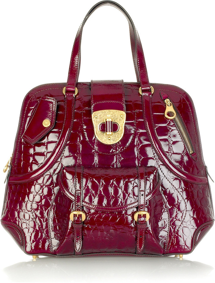 Alexander McQueen Stamped leather tote