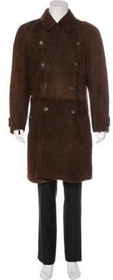 Giorgio Armani Double-Breasted Shearling Coat