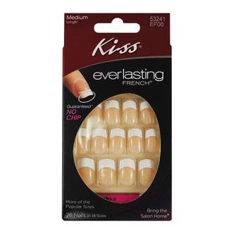 Kiss Everlasting French Medium Length Peach 28 pack