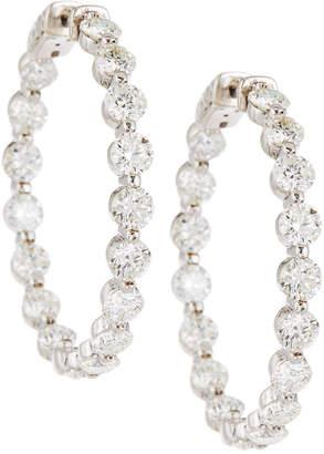 Neiman Marcus Diamonds 18k Diamond Illusion Hoop Earrings, 8.5tcw