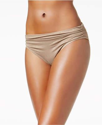 Kenneth Cole Metallic Shirred Bikini Bottoms Women's Swimsuit