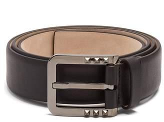 Valentino Studded-buckle leather belt