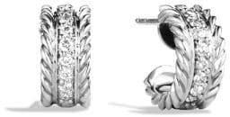 David Yurman Cable Classics Extra-Small Earrings with Diamonds
