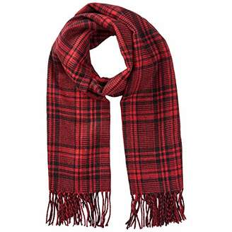 Jack and Jones NOS Men's Jacchecked Woven Scarf Ltd, Multicolour Fiery Red, One Size