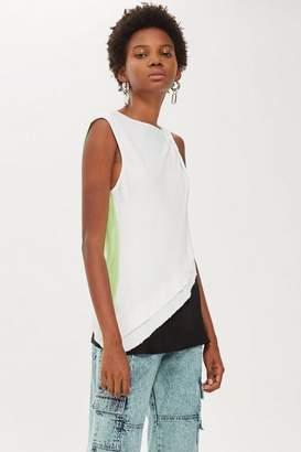 Topshop Womens **Twist Shoulder Tank Top By Boutique