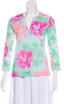 Lilly Pulitzer Woven Long Sleeve Top