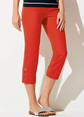 Kaleidoscope Cropped Button Trousers