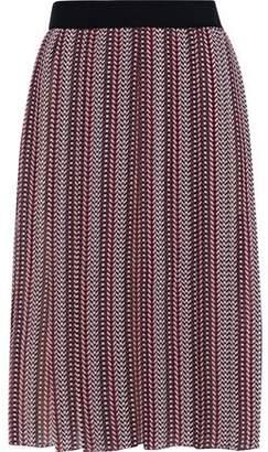 Giambattista Valli Pleated Printed Silk-chiffon Skirt