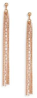 ginette_ny Unchained 18K Rose Gold Long Tassel Earrings