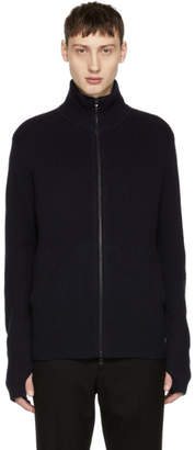 Rag & Bone Navy Andrew Zip Sweater