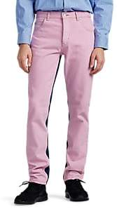 Martine Rose Men's Tie-Dyed Straight Jeans - Lilac