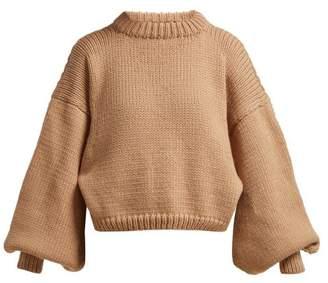 BEIGE I Love Mr Mittens - Jackie Fisherman Wool Sweater - Womens