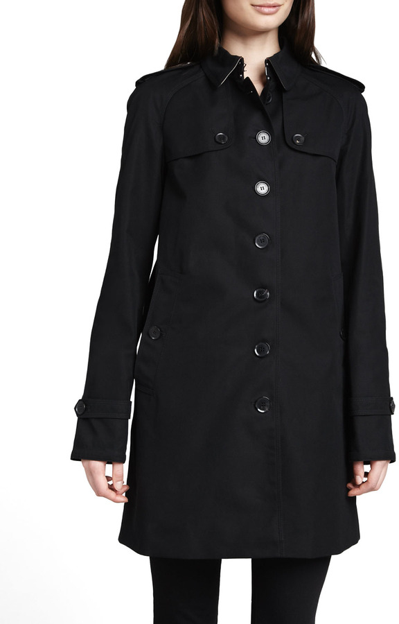 Burberry Single-Breasted Gabardine Trench Coat