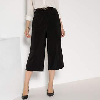 Anne Weyburn Loose Fit Culottes with Pleats Front and Back