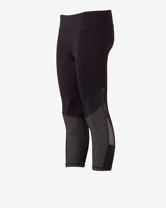 Express Exp Core Pieced Mesh Cropped Leggings