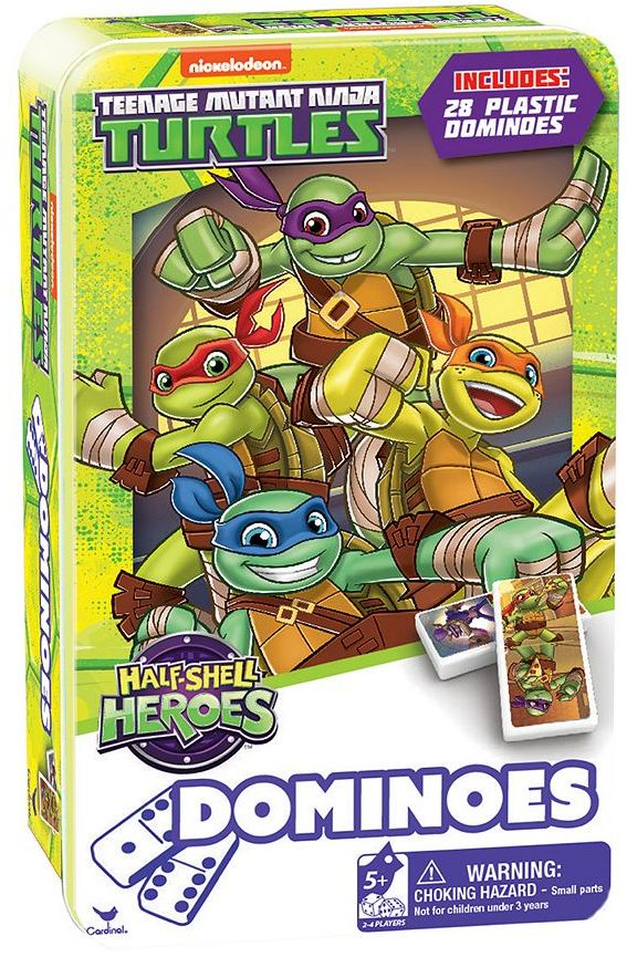 Cardinal Teenage Mutant Ninja Turtles Half-Shell Heroes Dominoes Set by Cardinal