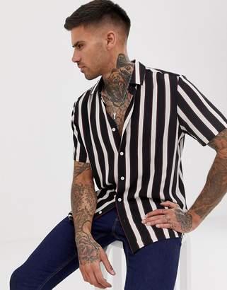 Asos Design DESIGN regular fit retro stripe shirt