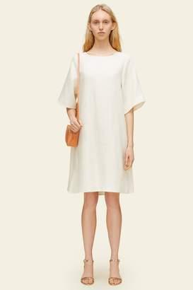 Mansur Gavriel Linen Back Pleat Dress - Natural