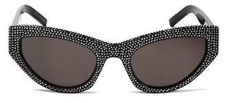Saint Laurent Women's Grace Embellished Cat Eye Sunglasses, 54mm